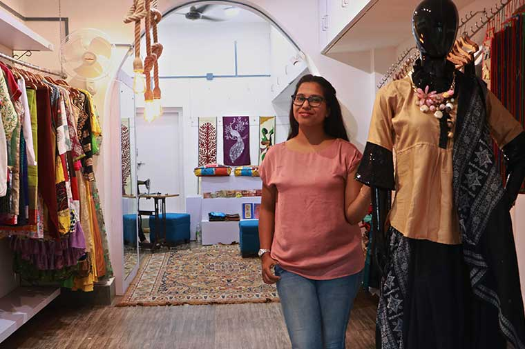 Fashion Designer From Orissa Who Creates The Best Out Of Waste By Recycling Wasted Fabric